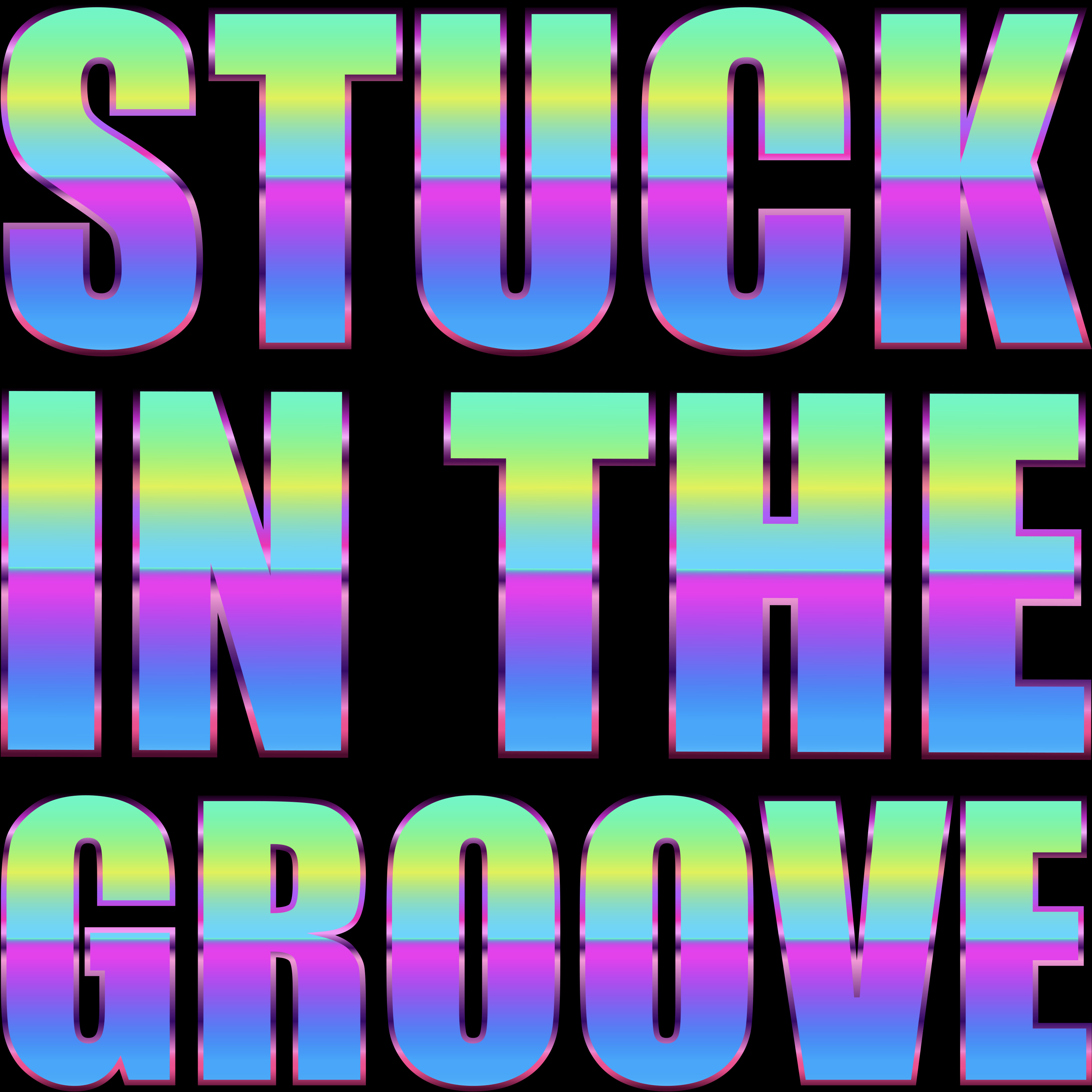 Ladonna Rama Stuck in the groove psychedelic acid logo