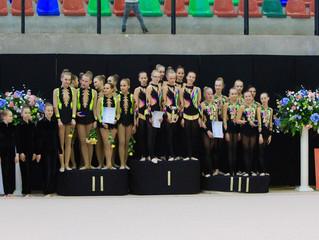 EEVL Karikavõistlustelt vahendiga rühmkavades Rütmika Ülenurme rühmadele 2 kuldset karikat!