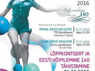 Suur sünnipäevapidu on tulemas! Eesti võimlemine tähistab 140.aastat ning Eesti Võimlemisliidu tore