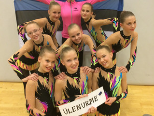 VK Rütmika Ülenurme noorteklassi rühma esimene välisvõistlus edukalt läbitud!