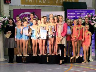 ESS Kalevi lahtised meistrivõistlused rühmvõimlemises olid VK Rütmika Ülenurme rühmadele edukad!