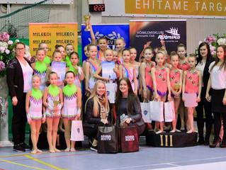 2017 a. ESS Kalevi lahtised meistrivõistlused rühmvõimlemises tõid Ülenurme rühmadele 4 karikat!