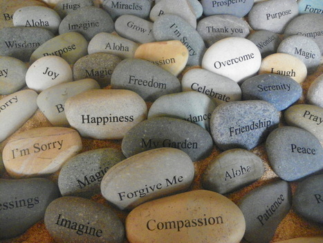 Stones with names of emotions