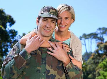 Military happy couple