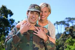 Military happy couple 25525744