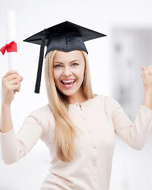 Happy Lady Graduate w hat diploma1479040