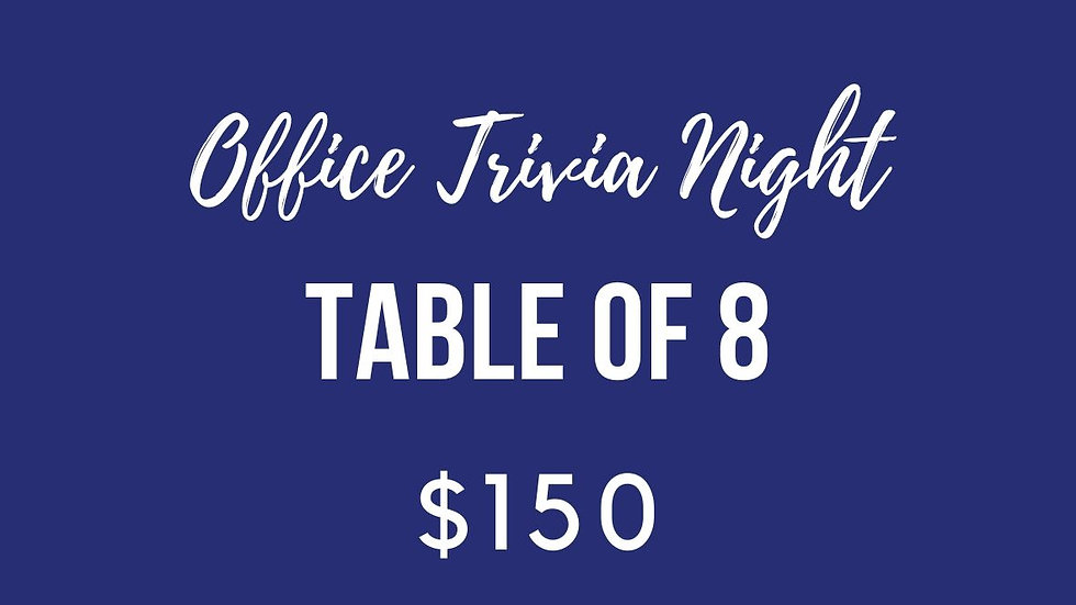 Office Trivia Night Table
