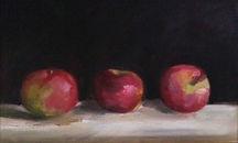 Three apples_oil on board_ 9_x14_.jpg