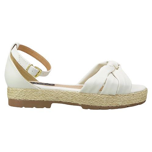 Sandália Flatform Corda Traseiro Nó Soft Off White