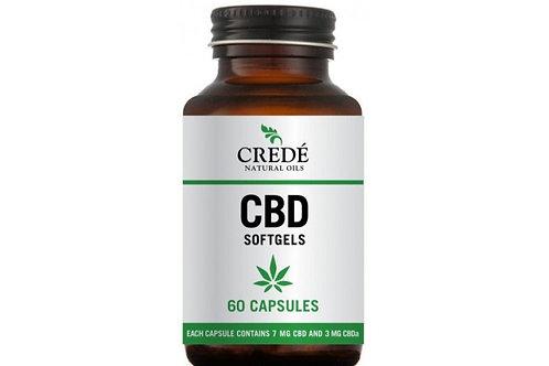 Crede CBD Oil Capsules 10mg, 60 capsules