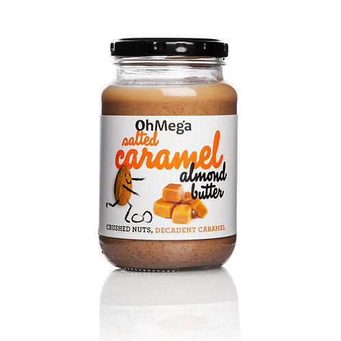 Oh Mega Salted Caramel Almond Nut Butter 400g