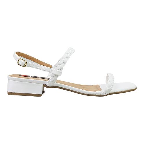 Sandália 2 Tiras Trança Off White