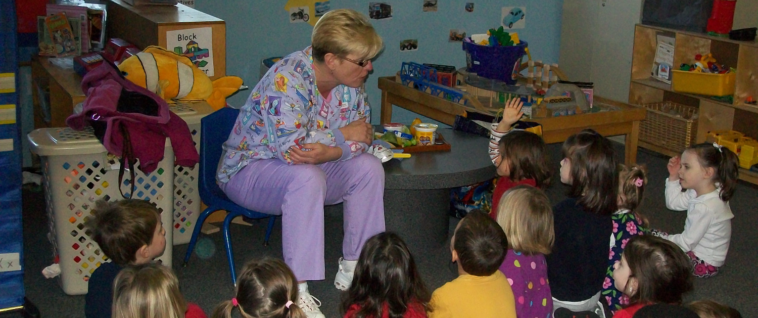A Guest Teaches Dental Health