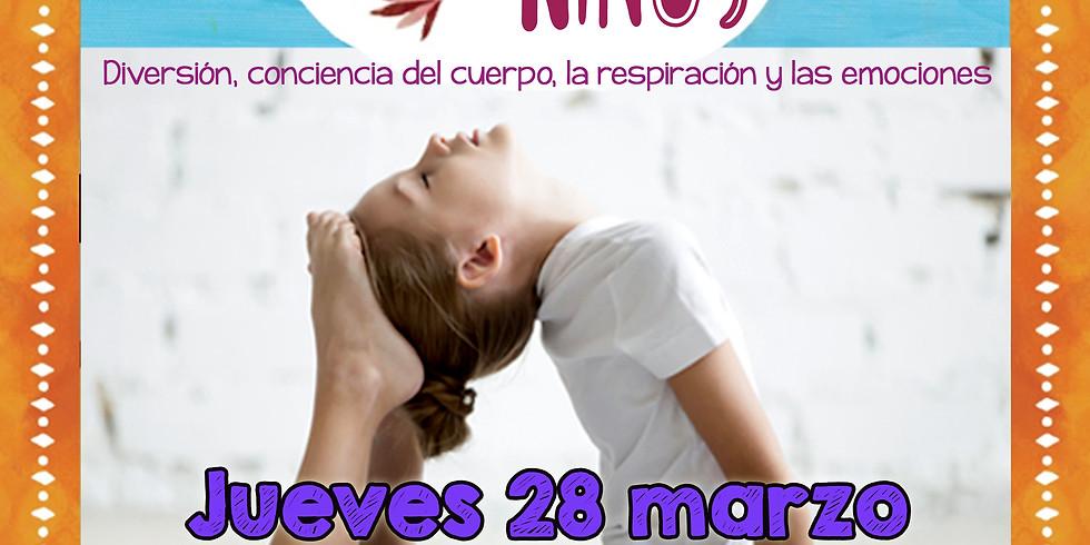 YOGA PARA NIÑ@S - PUERTAS ABIERTAS 28 de Marzo