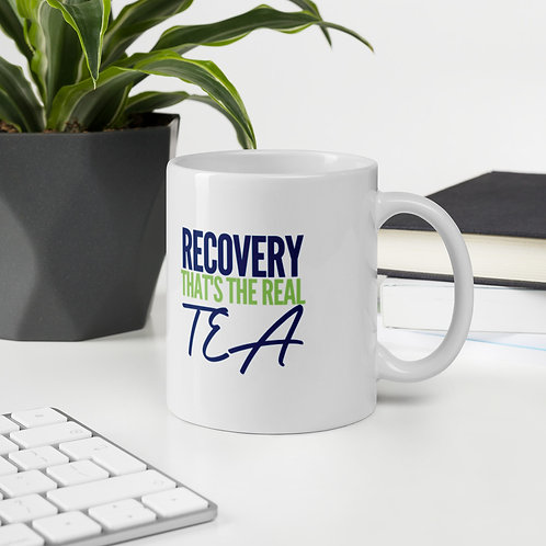 """Recovery Is The REAL TEA"" Mug"