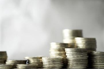 Högar av mynt