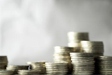 Las pilas de monedas
