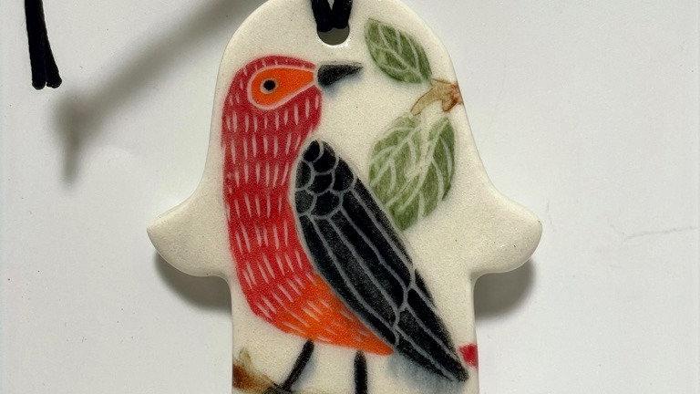 Red Bird Hamsa