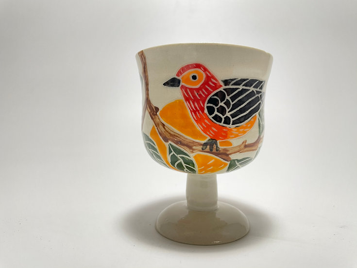 Red Birds with Oranges Kiddush/Miriam Cup