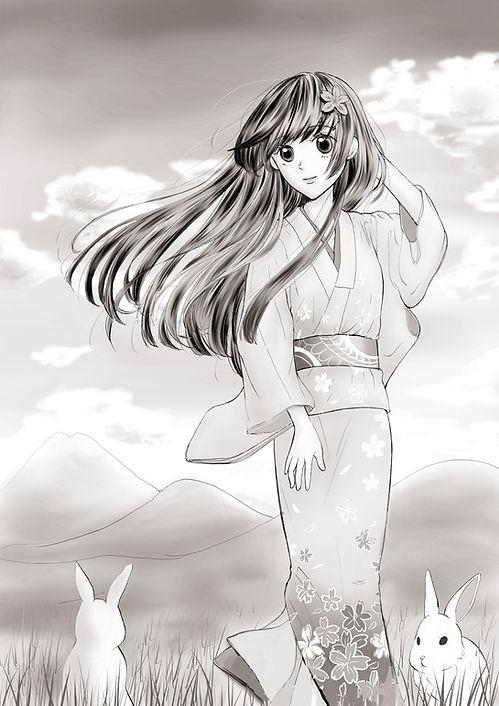 青音姫と由布岳