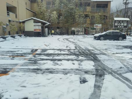積雪はこの日だけで〇