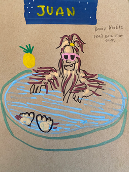Chewbaca-on-a-pool-drinking-pineapple.pn