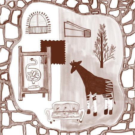 Dream of okapi Xmas tree Juan Diaz Window.jpg