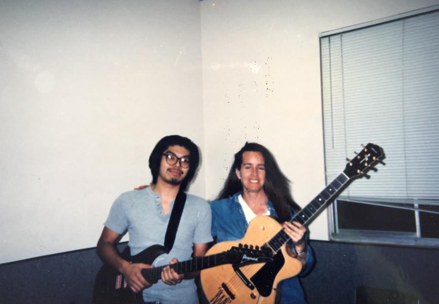 1996- With private student (Chikari Suzuki) at MI. Yamaha AEX1500