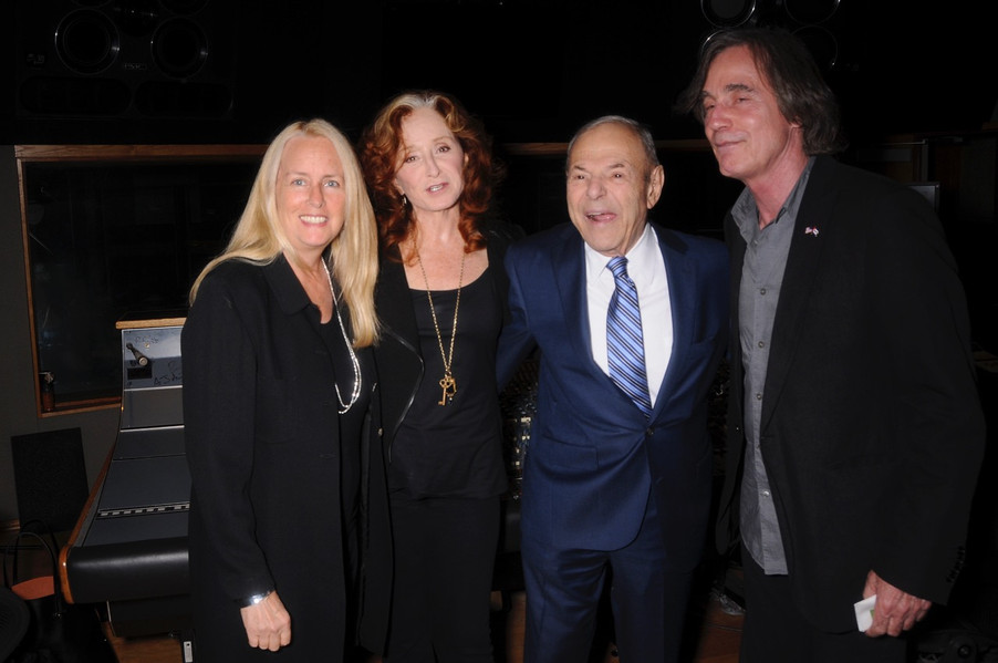 Bonnie Raitt, Joe Smith, Jackson Browne at Capitol Studio B