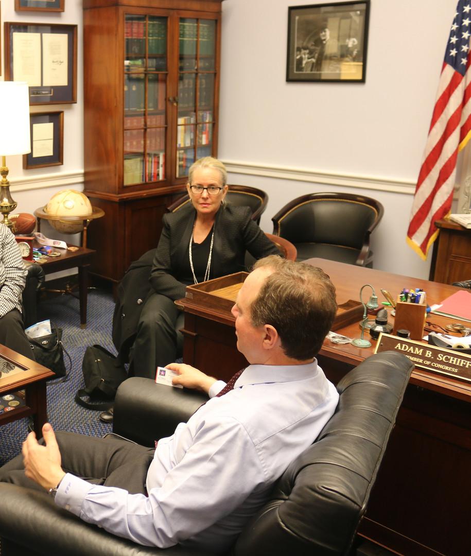Meeting with Congressman Adam Schiff, DC Office
