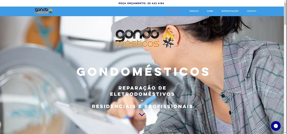 Gondomésticos Website Portefólio
