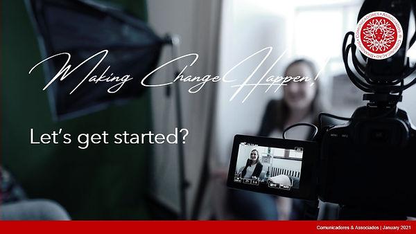 Comunicadores & Associados Streaming - Let's get started?