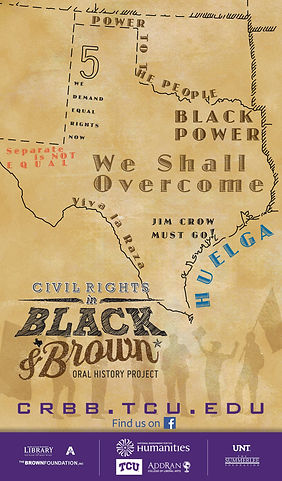 Poster Black  Brown Oral History Project