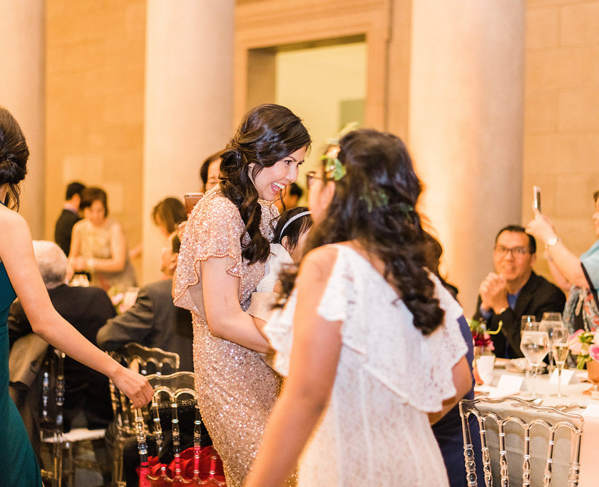 bridesmaid dances at wedding