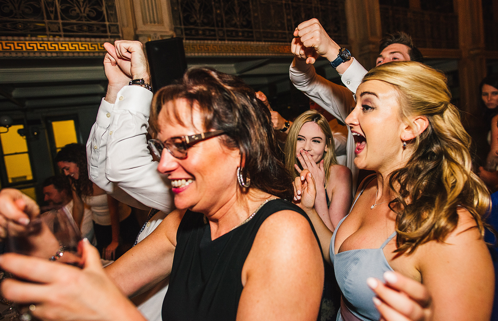 women dance at wedding