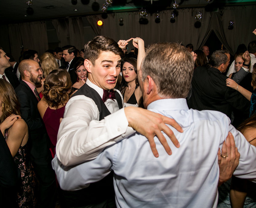 groom parties with wedding guests