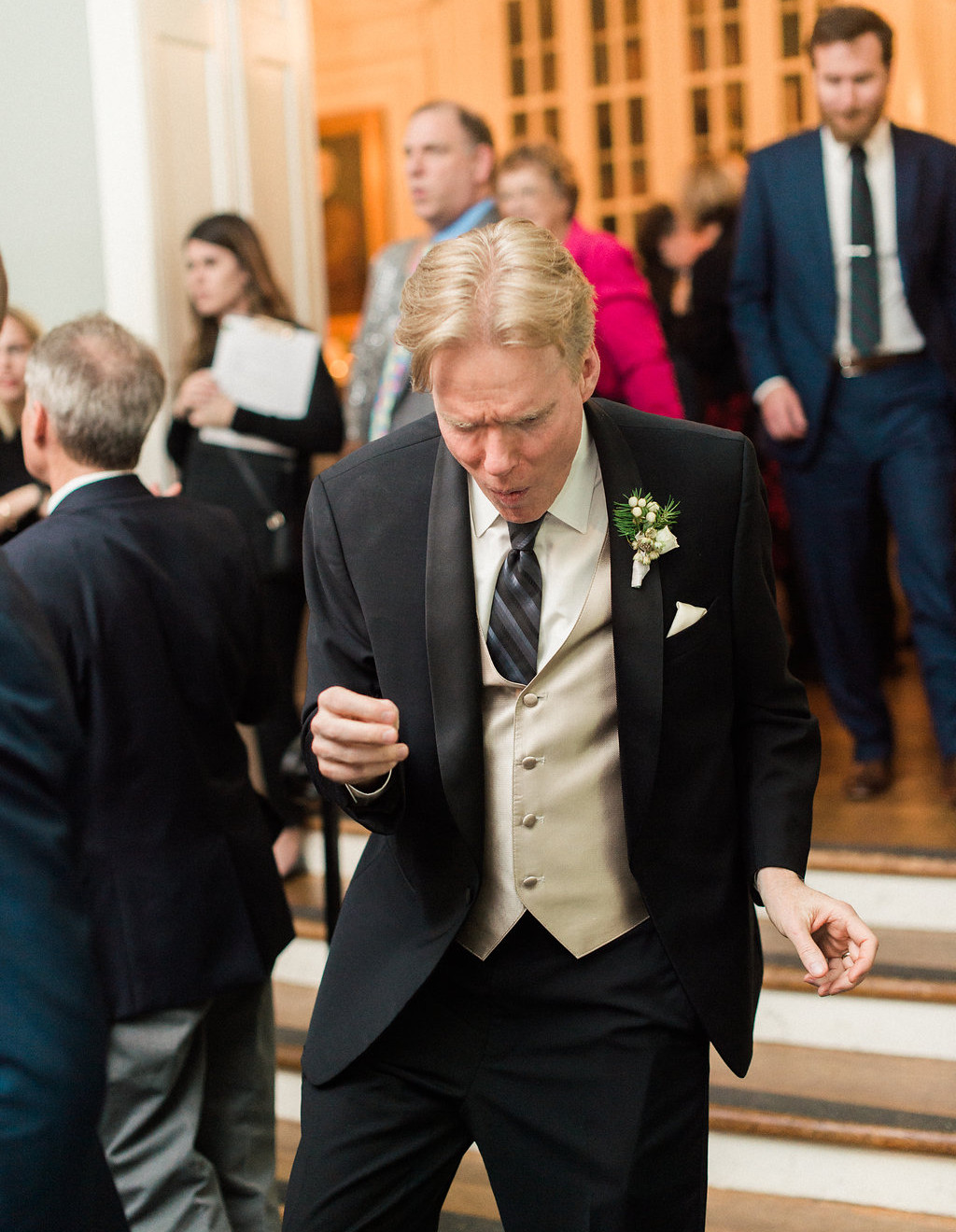 father of bride dancing at wedding
