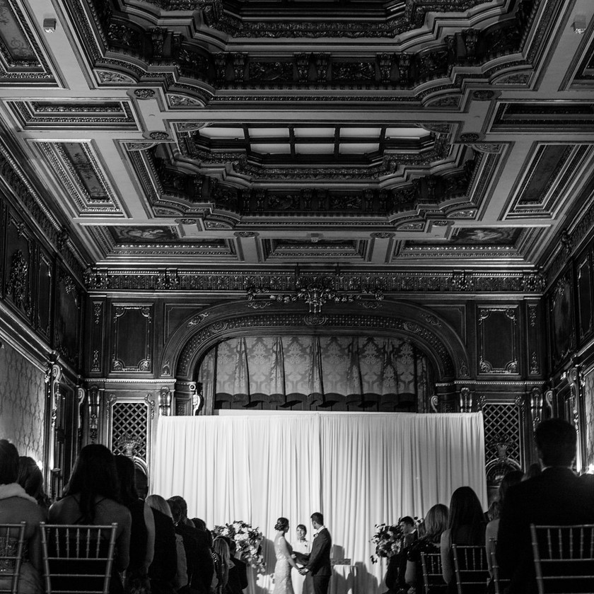 wedding ceremony inside ballroom