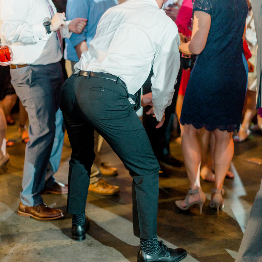 guy sticking butt out while dancing