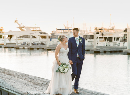 Romantic Wedding at Chesapeake Bay Beach Club | Christine and Morgan