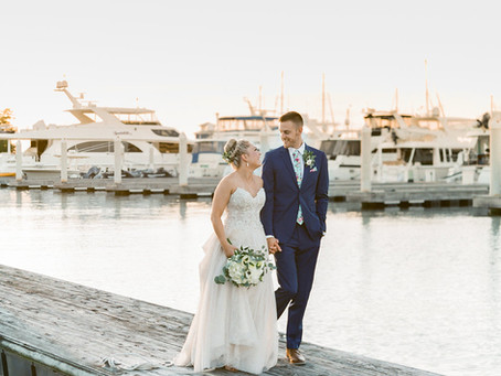 Romantic Wedding at Chesapeake Bay Beach Club | Christine and Morgan