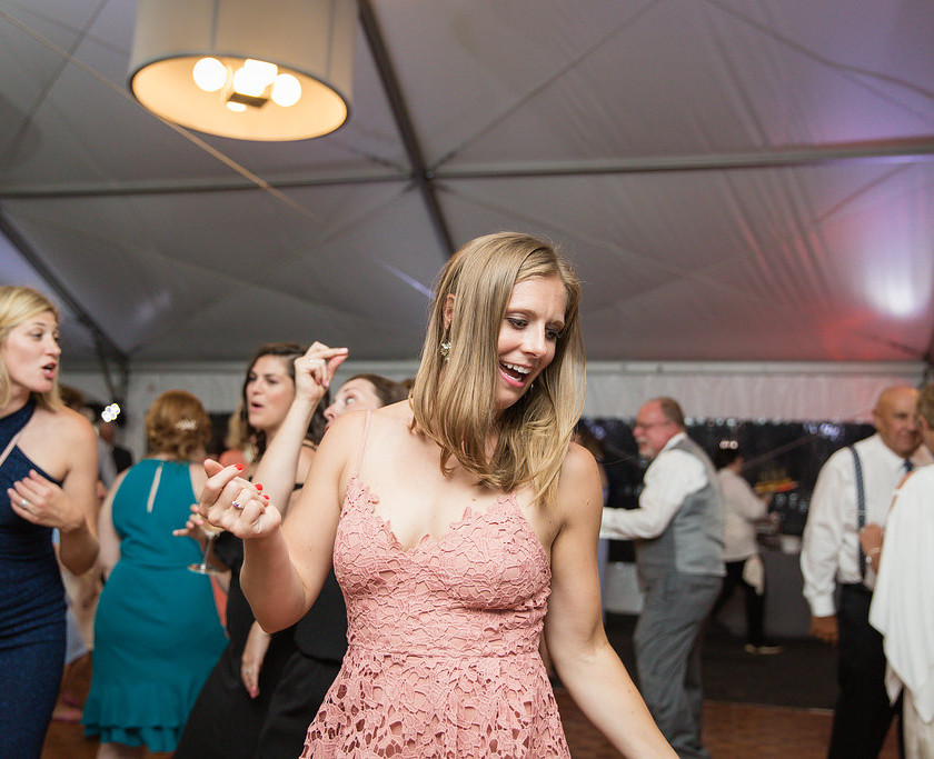woman in pink dress dancing