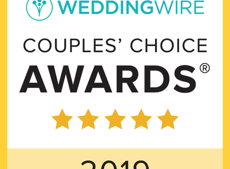 We Won The Wedding Wire 2019 Couple's Choice Award