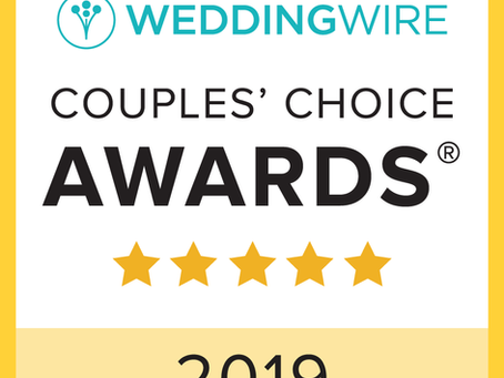 We Won The Wedding Wire 2019 Couple's Choice Award