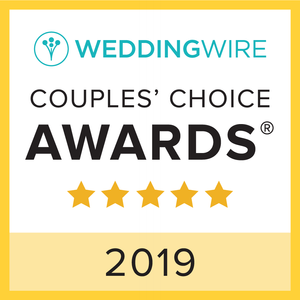 Wedding Wire Couples' Choice Award Badge with 5 gold stars