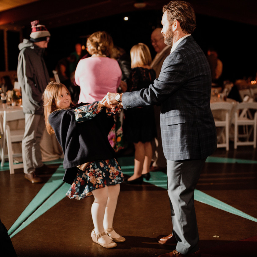 guy and daughter dance
