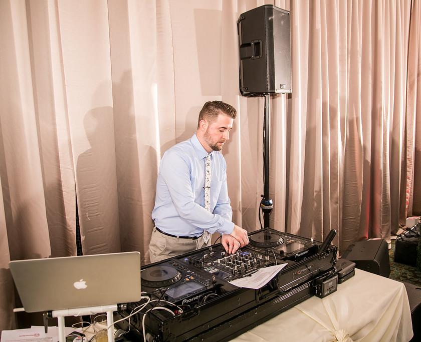 wedding dj spins music