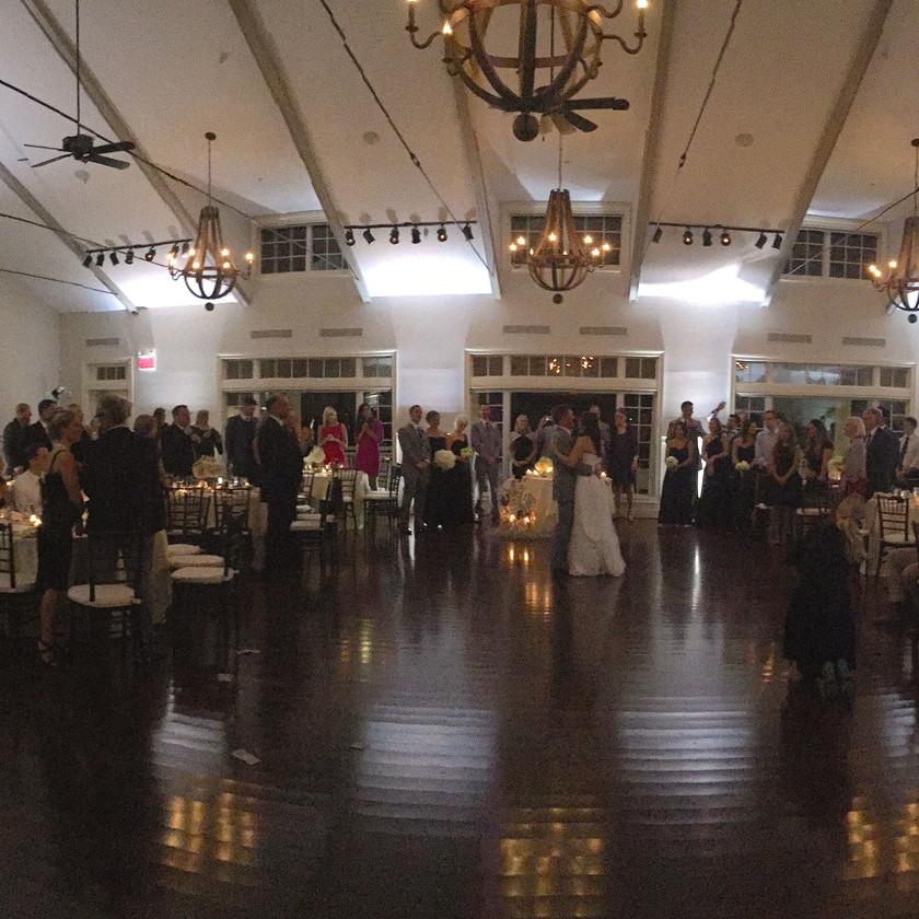 first dance in beach house at chesapeake bay beach club