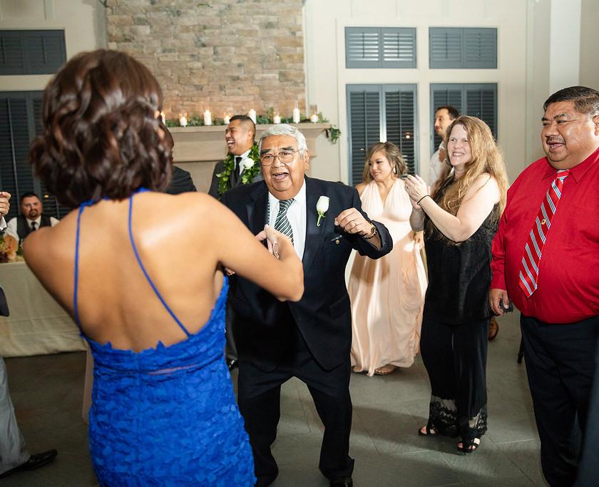 old man dances at wedding