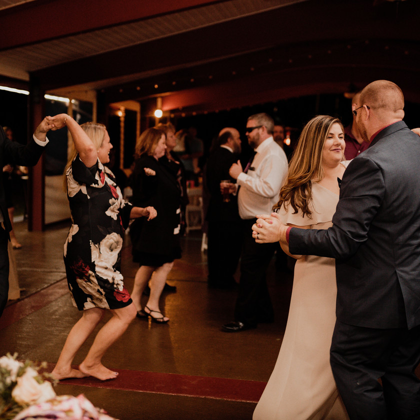 wedding guests dance in annapolis